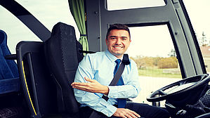 "Touristenfreundlicher? Busfahrer: ""You don`t need a ticket"". Copyright by Syda Productions/fotolia"