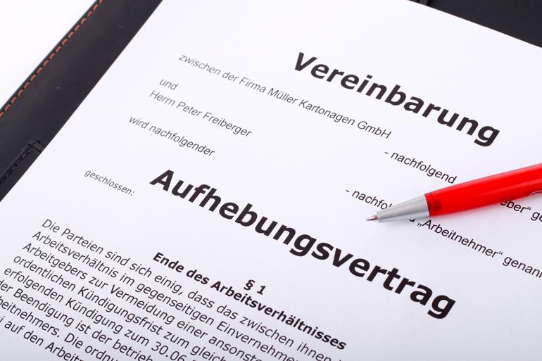 Stolperfalle Aufhebungsvertrag Dgb Rechtsschutz Gmbh