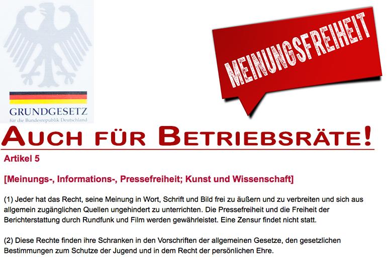 Meinungsfreiheit Auch Für Betriebsräte Dgb Rechtsschutz Gmbh